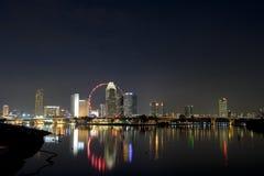 Singapore bij Nacht royalty-vrije stock foto