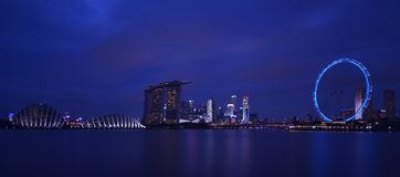 Singapore Blue Hour Royalty Free Stock Photography