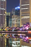 Singapore Boat Quay Stock Photo