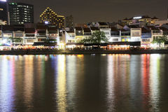Singapore Boat Quay Royalty Free Stock Images