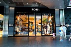 Singapore: BOSS retail store Royalty Free Stock Image