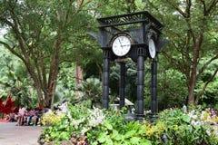 @ Singapore Botanic Garden. The Clock @ Singapore Botanic Garden stock image