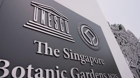 Singapore Botanic Gardens Sign stock video footage