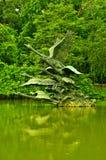 Singapore Botanic Gardens, Swan Lake Sculpture Stock Images