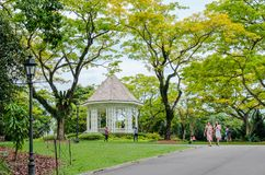 The Singapore Botanic Gardens. royalty free stock photo