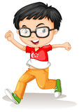 Singapore boy wearing glasses Royalty Free Stock Images