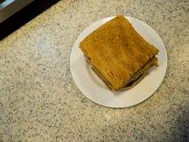 Singapore Breakfast called Kaya Toast, Coffee bread and Half boi. Led eggs Stock Images