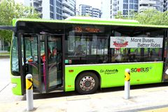 Singapore: Buses Stock Images