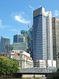 Singapore Business District. Photo is suitable for financial news/reports concerning Singapore Stock Images