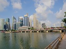 Singapore Business District. Photo is suitable for financial news/reports magazines, journals concerning Singapore Royalty Free Stock Photography