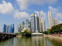 Singapore Business District. Photo is suitable for financial news/reports magazines, journals concerning Singapore Royalty Free Stock Images