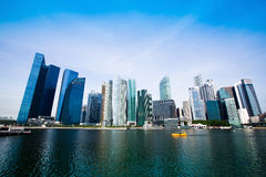 Singapore business district Royalty Free Stock Photos