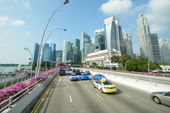Singapore business district Stock Image