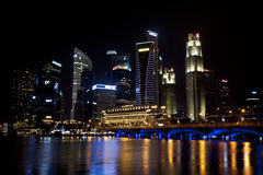 Singapore business district cityscape Stock Photo