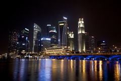 Singapore business district cityscape Royalty Free Stock Photo