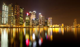 Singapore business district in the night Stock Images
