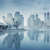 Singapore business district Royalty Free Stock Image