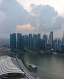 Singapore Business District from the sky Royalty Free Stock Photography