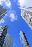 Singapore business district Royalty Free Stock Images
