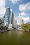 Singapore Business Towers Stock Image