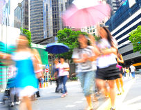 Singapore busy street Stock Images
