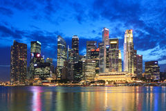 Free Singapore By Night Stock Photography - 26052902
