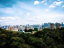 Singapore byggnadslandskap Arkivfoton