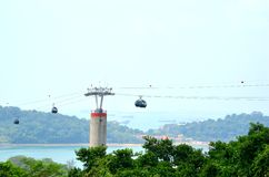 Singapore Cable Car, Sentosa Royalty Free Stock Images