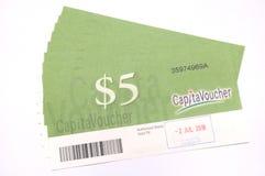 Singapore capitavouchers for CapitaLand Malls. Stock Photography