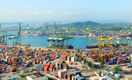 Singapore cargo port Royalty Free Stock Photos