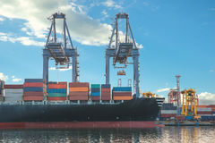 Singapore cargo terminal,one of the busiest ports in the world, Stock Photography