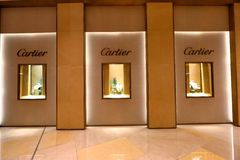 Singapore: Cartier. Window display for Cartier at 1 of the shopping mall in Singapore stock photos