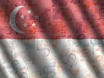 Singapore cash flag background Royalty Free Stock Image