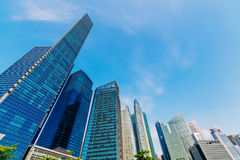 Singapore CBD. Central business district in Singapore stock photo