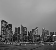 Singapore CBD, Marina Bay Stock Images