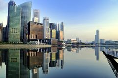 Singapore CBD Reflections Stock Photos