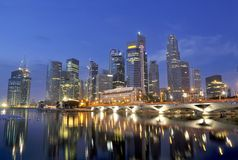 Singapore CBD, Urban Landscape Royalty Free Stock Photography