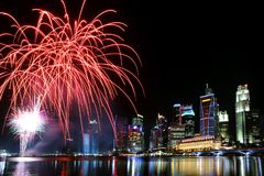 Singapore celebrations Royalty Free Stock Images