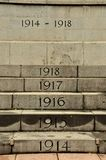 Singapore Cenotaph yearly steps for World War One Stock Photography