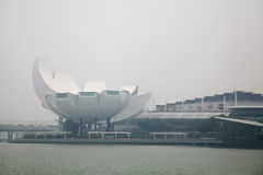 Singapore center covered in haze Stock Photo