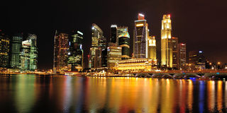 Singapore Central Area or Central Business District Royalty Free Stock Photo