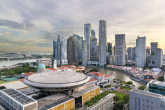 Singapore Central Business District City Skyline Stock Image