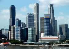 Singapore: Central Business District Skyline Stock Images