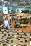 Singapore: Changi airport after check in retail area. Stock Photo