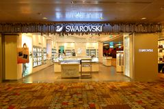 Singapore: Changi airport after check in retail area. Stock Images