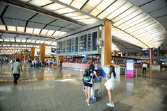 Singapore Changi Airport with passengers Royalty Free Stock Image