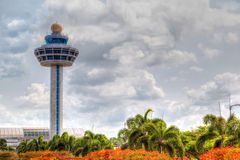 Singapore Changi Airport Traffic Controller Tower Stock Image