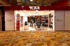 Singapore: Changi flygplats Tumi Royaltyfri Fotografi