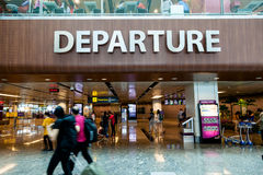 Singapore Changi International Airport Departure Hall Stock Image