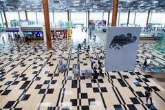 Singapore Changi International Airport Departure Hall Stock Photos